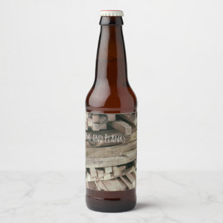 Timber, Beams & Planks Lumber Crafted Woodworks Beer Bottle Label