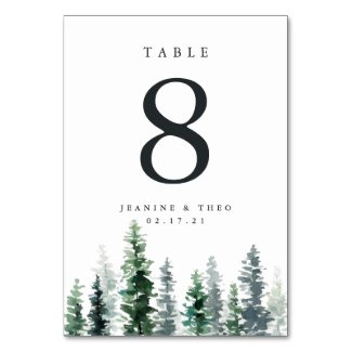 Timber Grove | Personalized Table Number Card