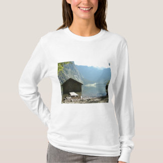 Timber house by a lake T-Shirt