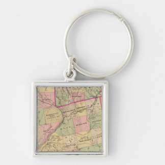 Timber lands 3 Map Keychains