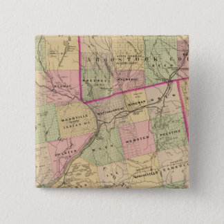 Timber lands 3 Map Pinback Button