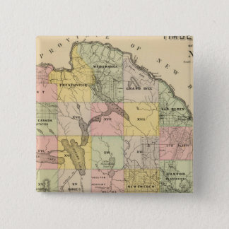 Timber lands 5 Map Atlas Pinback Button