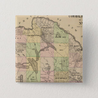 Timber lands 5 Map Pinback Button