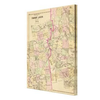 Timber lands 6 Map Canvas Print