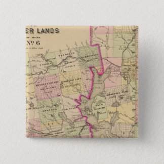 Timber lands 6 Map Pinback Button