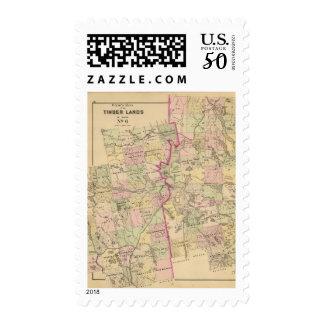 Timber lands 6 Map Postage