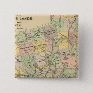 Timber lands 6 pinback button