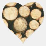 Timber lumber balk beam short heart sticker