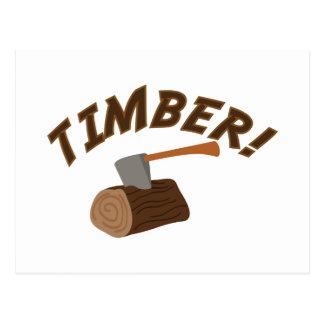 Timber! Postcard