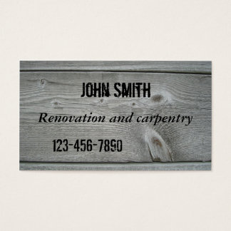 Timber Renovation or Carpentry Business Card