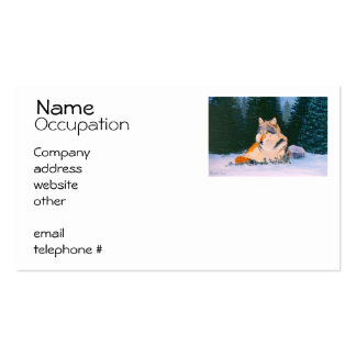 Timber Wolf Business Card