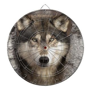 Timber wolf by Jim Zuckerman Dartboard