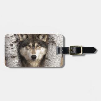 Timber wolf by Jim Zuckerman Luggage Tag
