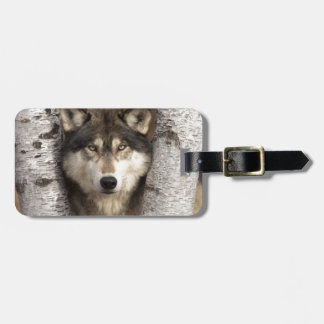 Timber wolf by Jim Zuckerman Tag For Luggage