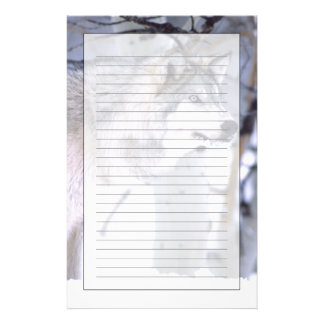 Timber Wolf, Canis lupus, Movie Animal Utah) Stationery