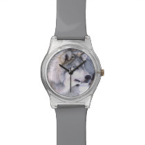 Timber Wolf, Canis lupus, Movie Animal Utah) Wrist Watch