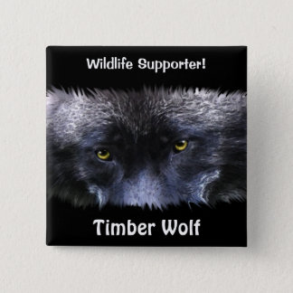 Timber Wolf Eyes Wildlife ID pin