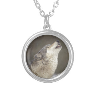 Timber Wolf Howling Pendant