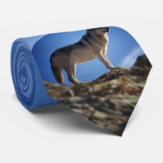 Timber Wolf in Montana - Big Sky Country Neck Tie