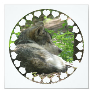 Timber Wolf Invitation
