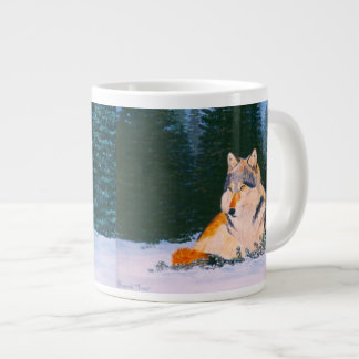 Timber Wolf Large Coffee Mug