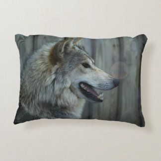 Timber Wolf Accent Pillow