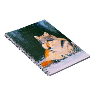 Timber Wolf Notebook