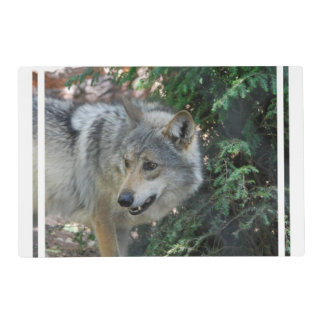Timber Wolf Laminated Placemat