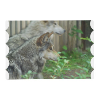 Timber Wolf Laminated Place Mat