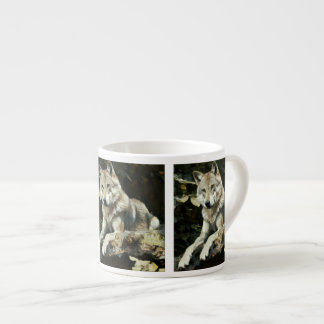 Timber Wolf Painting Espresso Cup