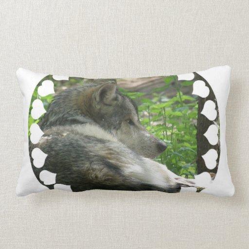 Timber Wolf Pillow