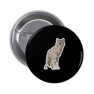 timber wolf pinback button