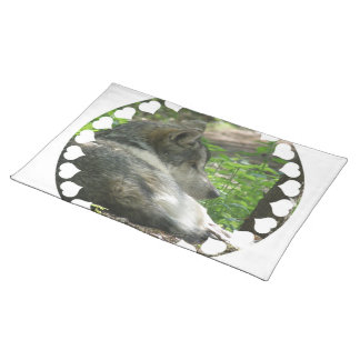 Timber Wolf Placemat Cloth Placemat