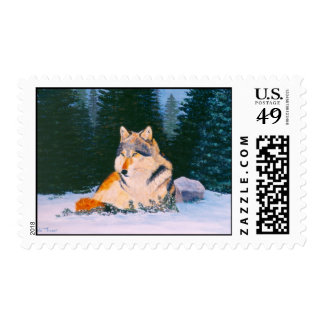 Timber Wolf Postage