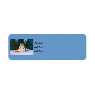 Timber Wolf Return Address Label