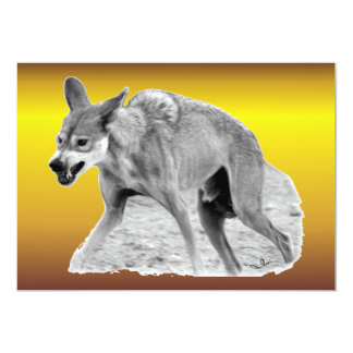 Timber Wolf Snarl Card