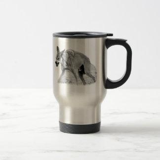 Timber Wolf Snarl Travel Mug