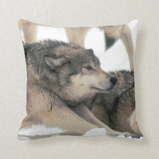 Timber Wolf Stretching Pillow