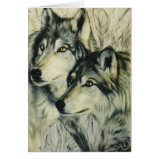 """Timber Wolves"" Greeting Card"