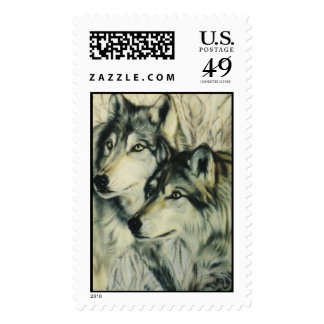 """Timber Wolves"" Postage Stamps"