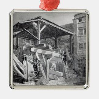 Timber Yard, Finsbury, 1825 Metal Ornament