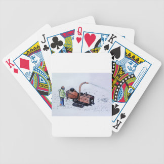 Timberwolf wood chipper bicycle playing cards