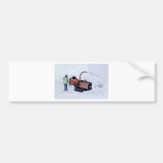Timberwolf wood chipper bumper sticker