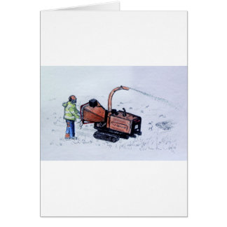 Timberwolf wood chipper card