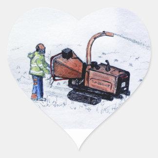 Timberwolf wood chipper heart sticker