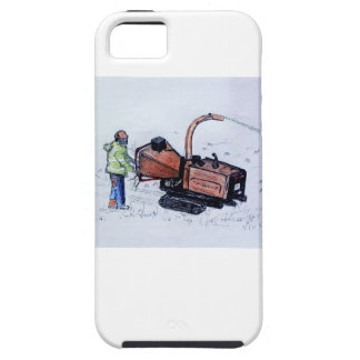 Timberwolf wood chipper iPhone SE/5/5s case