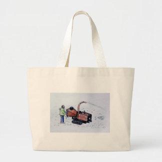 Timberwolf wood chipper large tote bag