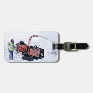 Timberwolf wood chipper luggage tag