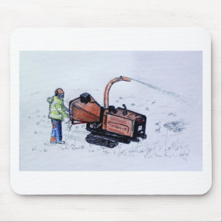 Timberwolf wood chipper mouse pad