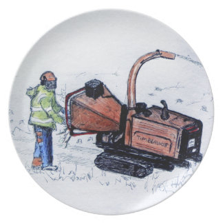 Timberwolf wood chipper plate